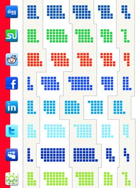«Flowtown» составил карту пользователей социальных сетей